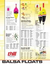 Thill Pro Series Slip Bobber Floats Unweighted