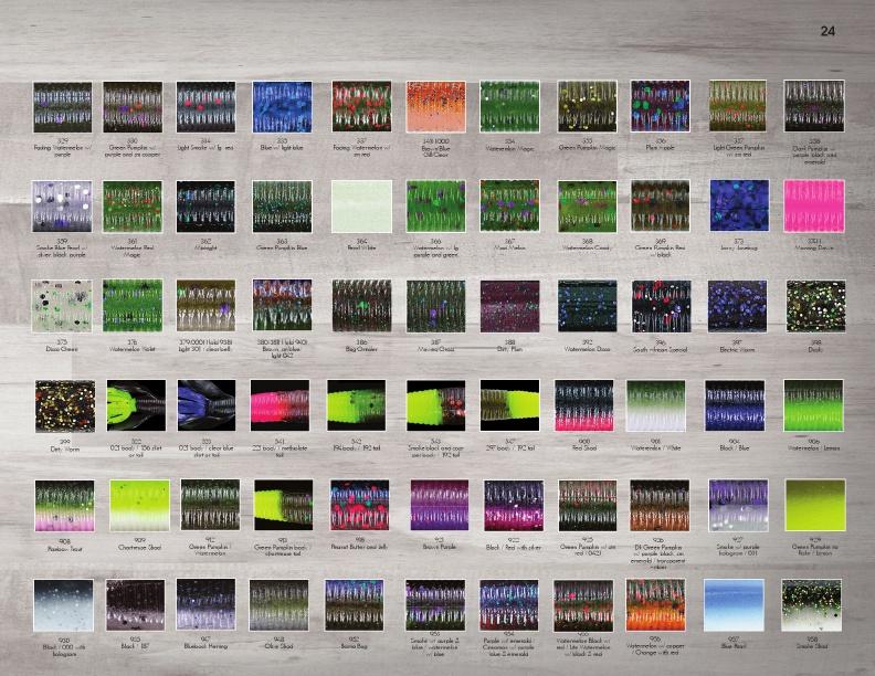 Gary Yamamoto Senko Color Chart 28 Images Customlures Net Gary Yamamoto Senko 4 Inch 9s