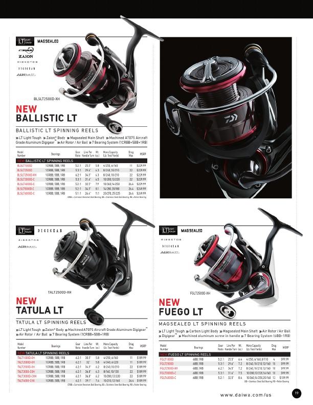 NEW Daiwa Tatula LT Spinning Reel Light Zaion body TALT4000-CXH