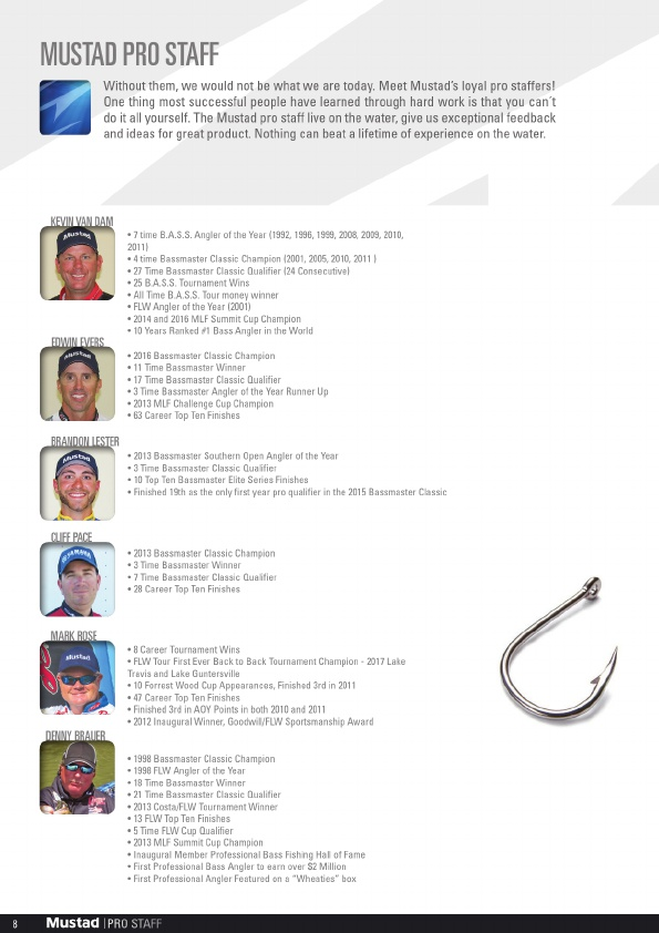 Mustad 2019 Product Catalog#, Page 8