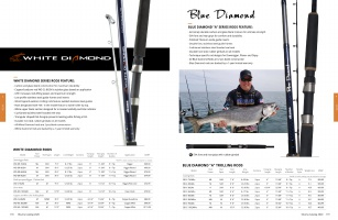 "Okuma White Diamond Downrigger Rod 8/' 6/"" Medium Light 2-Pc WD-DR-862ML"