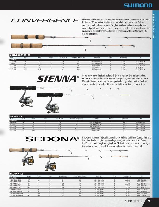 Shimano Sienna Ice Fishing Rod