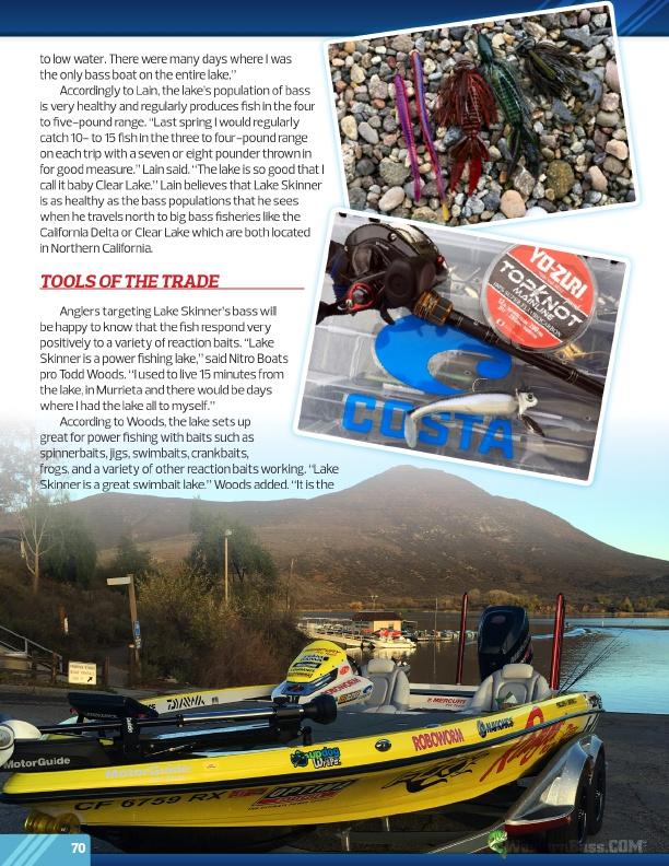 Westernbass free magazine spring bass fishing tips 2017 for Lake skinner fishing