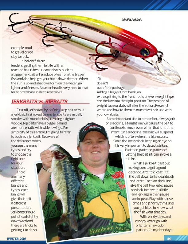 Westernbass magazine free bass fishing tips and for Winter bass fishing tips
