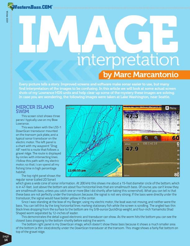Lowrance Image Interpretation by Marc Marcantonio